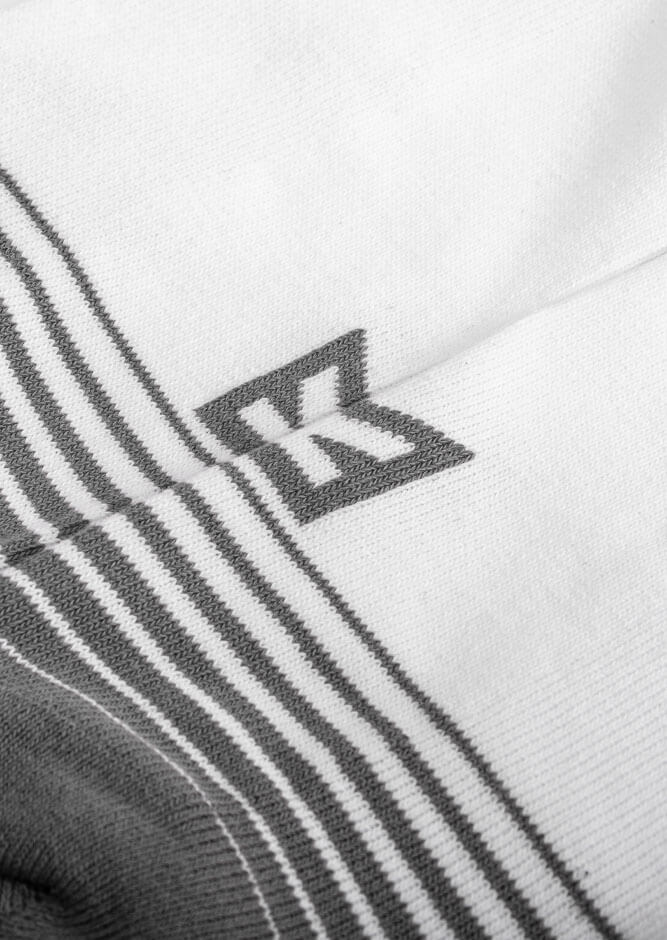 krckbrnd logo crew socks white grey